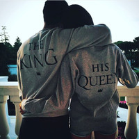 KING QUEEEN Sweater for Lover Women Men Top Gift-63