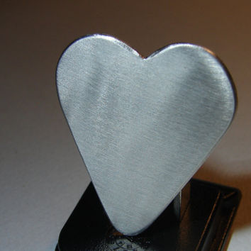 Guitar Pick Heart Handmade from Aluminum Customize Me