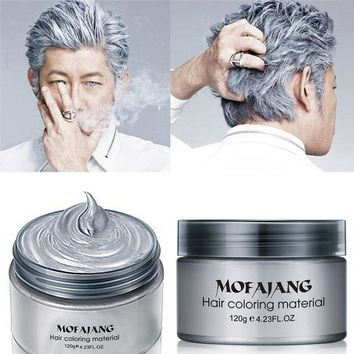 Arctic Silver Temporary Bright Hair Color Wax -- natural formula works on all hair colors
