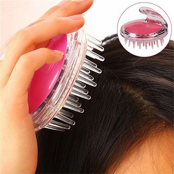Silicone Scalp Massage Comb Shower Brush