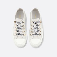 Walk'n'Dior low-top Sneaker in white canvas - Shoes - Woman | DIOR