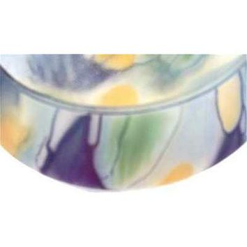"Vintage  Frosted  Glass Bowl  6"" Arts & Crafts"