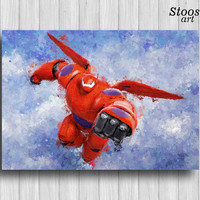 Baymax poster disney wall decor big hero 6 print