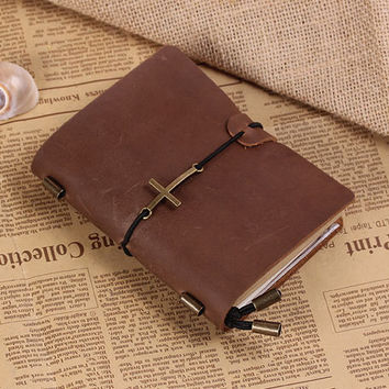 Daily Organizer Journal - Hand made Vintage Refillable Leather Traveler's Notebook - Passport Size