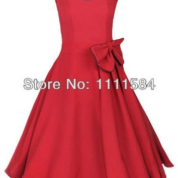 free shipping Women Vintage 1950s Rockabilly Evening New Style Luxury Dresses Party Dress