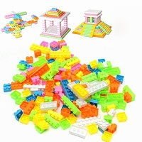 144pcs Plastic Building Blocks Bricks Toys For Children Kids Educational Blocks Toy Kids's Toy Building Block Compatible Bricks