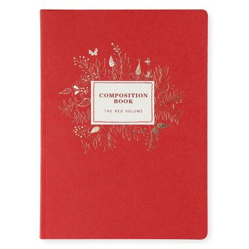 Crimson Composition Notebook