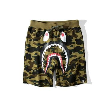 Men's Fashion Camouflage Cartoons Casual Pants Shorts [136013447187]