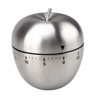 1 X Stainless Steel Apple Shape 60 Minute Kitchen Cook Cooking Timer