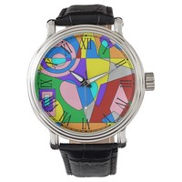Retro Colorful Abstract Watches