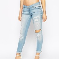 River Island Cara Low Rise Ripped Jeans