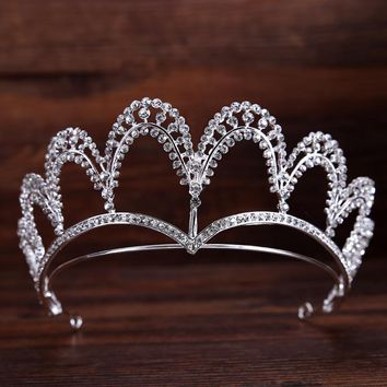 Hot Fashion Silver Hairband Tiaras And Crowns Wedding Hair Accessories Cosplay
