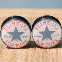 Blink 182 All Star Plugs Choose Your Size 0g - 1""