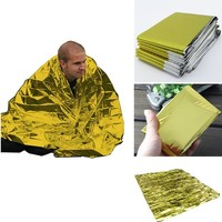 2.1*1.6m 50g emergent blanket rescue first aid waterproof travel camp tent hike outdoor survive silver tool hunt thermal