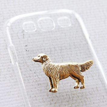 Golden Retriever Samsung Clear Plastic and Gold Galaxy S3 Smartphone Case iPhone 6 Plus Case