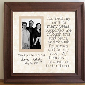Graduation Custom Picture Frame for Parents  - Graduation Thank You parents - Thank you gift - wooden frame - square frame  - 15x15