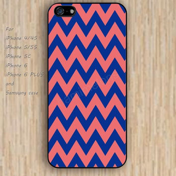 iPhone 6 case pink blue chevron iphone case,ipod case,samsung galaxy case available plastic rubber case waterproof B201