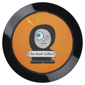 Funny Cartoon Character Too Much Coffee USB Charging Station