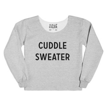 Cuddle Sweater-Unisex Heather Grey T-Shirt