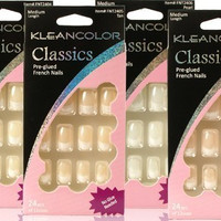 KleanColor Nail Art Classics pre-glue French Nails Case Pack 36