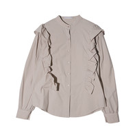 Frilled Button-Down Blouse