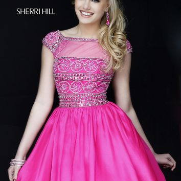 Sherri Hill 32267 Beaded Illusion Party Dress