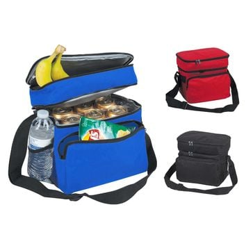 "DALIX 10"" Small Cooler & Lunch Bag in 1 (Black, Red, Royal Blue)"