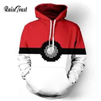 Raise Trust Men/Women Harajuku print pokemon casual 3d Hoodies  Fashion pullover couple sweatshirts Brand Clothes Large Size 3xl
