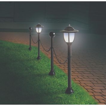 Solar Lamp Post Garden Border Set