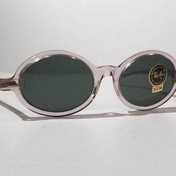 Vintage Ray Ban Sunglasses, Vintage 60s 70s Ray Ban Tenley Bausch and Lomb Clear Oval