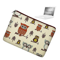Laptop Sleeve 13 inch MacBook Case Apple MacBook Pro 13 Case zipper padded - Cute Owl - In Stock