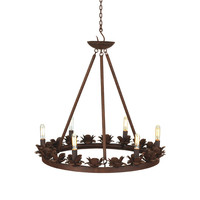 Go Home Rustic Rose Iron Chandelier - 19736