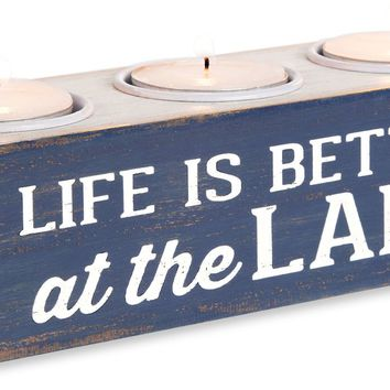 Life is Better at the Lake MDF Board Tea Light Holder