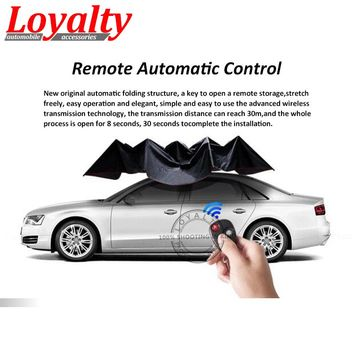 Loyalty Car-covers Automatic Parasols Sunshade Remote Control Umbrella Nano Telescopic for All Models Car Protection Accessories