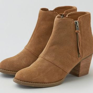 AEO Women's Double Zip Suede Bootie