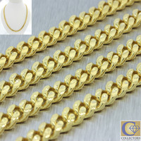 """Men's Modern 14k Solid Yellow Gold 21"""" Cuban Curb 6mm Link Chain Necklace 57.5g"""
