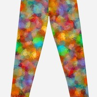 'Abstract Watercolour Bubbly Pattern' Leggings by MarkUK97