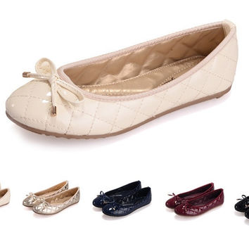 Womens Cute Shiny Flats