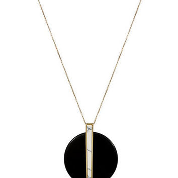 House Of Harlow 1960 Disc Pendant Necklace