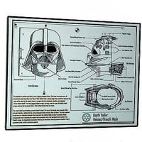 Framed Darth Vader Helmet mask plans diagram Star Wars