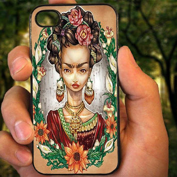 Frida Kahlo Tattoos case for iPhone 4 4S 5 5C 5 5S 6 Plus,Samsung Galaxy s3 s4 s5,Note 3