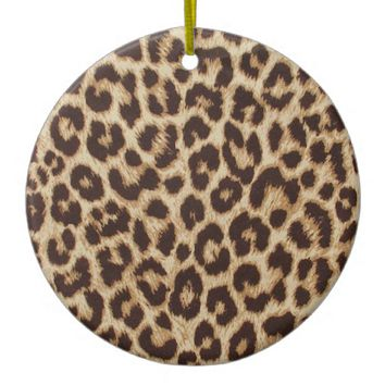 Leopard Print Ceramic Ornament