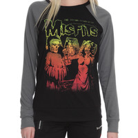 Misfits Shocking Return Raglan Girls Pullover Top