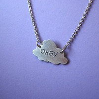 OKAY the fault in our stars inspired aluminum cloud necklace