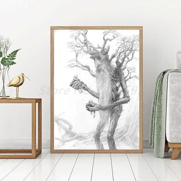 The Hobbit Lord Of The Rings HD Wall Art Canvas Posters Prints Painting Wall Pictures For Office Living Room Home Decor Artwork