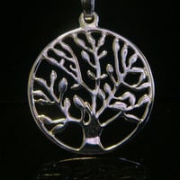 Tree of Life Necklace with 925 Silver Tree of Life Pendant. Lovely Tree of Life Necklace with Sterling Silver Tree of Life Pendant TOLP003