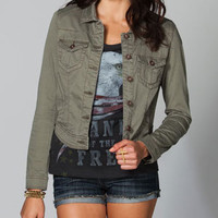 TINSELTOWN Womens Hi Low Twill Jacket 212847526 | Jackets | Tillys.com