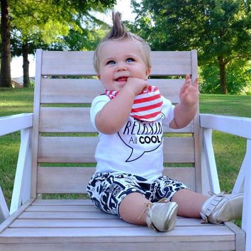 Chillin' Out Maxin Relaxin All Cool Onesuit Black Flock Shirt Baby Clothes Baby Shirt Hipster Baby Clothes Baby Gift White and Black