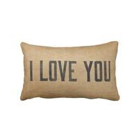 Burlap Vintage I Love You from Zazzle.com