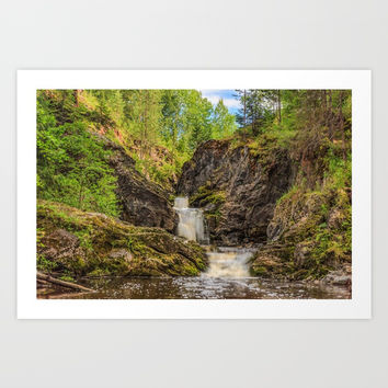 Forest Waterfall Art Print by Svetlana Korneliuk